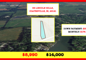 38 Lincoln Hills,Coatesville,Indiana 46121,38 Lincoln Hills,170489