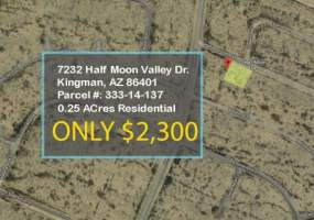 7232 Half Moon Valley Dr,Kingman,Arizona 86401,7232 Half Moon Valley Dr,3944